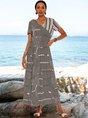 Black Short Sleeve Swing Dresses