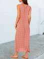 Orange Holiday Pockets Shift Maxi Dress