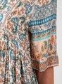 Short Sleeve Printed Shift Floral Mini Dress
