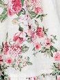 V Neck  A-Line Date Holiday Floral  Mini Dress