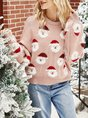 Crew Neck Knitted Christmas Sweater