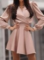 V Neck  A-Line Date Elegant  Mini Dress