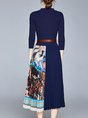 Elegant Floral  Midi Dress