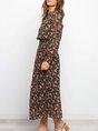 Long Sleeve Floral Holiday Maxi Dress
