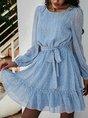 Holiday Floral Printed Mini Dress