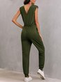 Sleeveless Pockets Casual One-Pieces Jumpsuit
