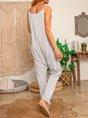 Sleeveless Cotton Pants
