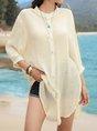 V Neck White Shift Casual Mini Dress