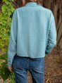 Shift Embellished Long Sleeve Cotton-Blend Top