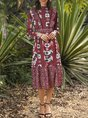 Turtleneck Midi Dresses Shift Daily Casual Dress