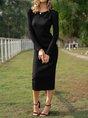 Sheath Daily Casual Midi Dress