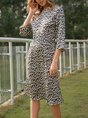 Daily Leopard Sexy Casual Dress